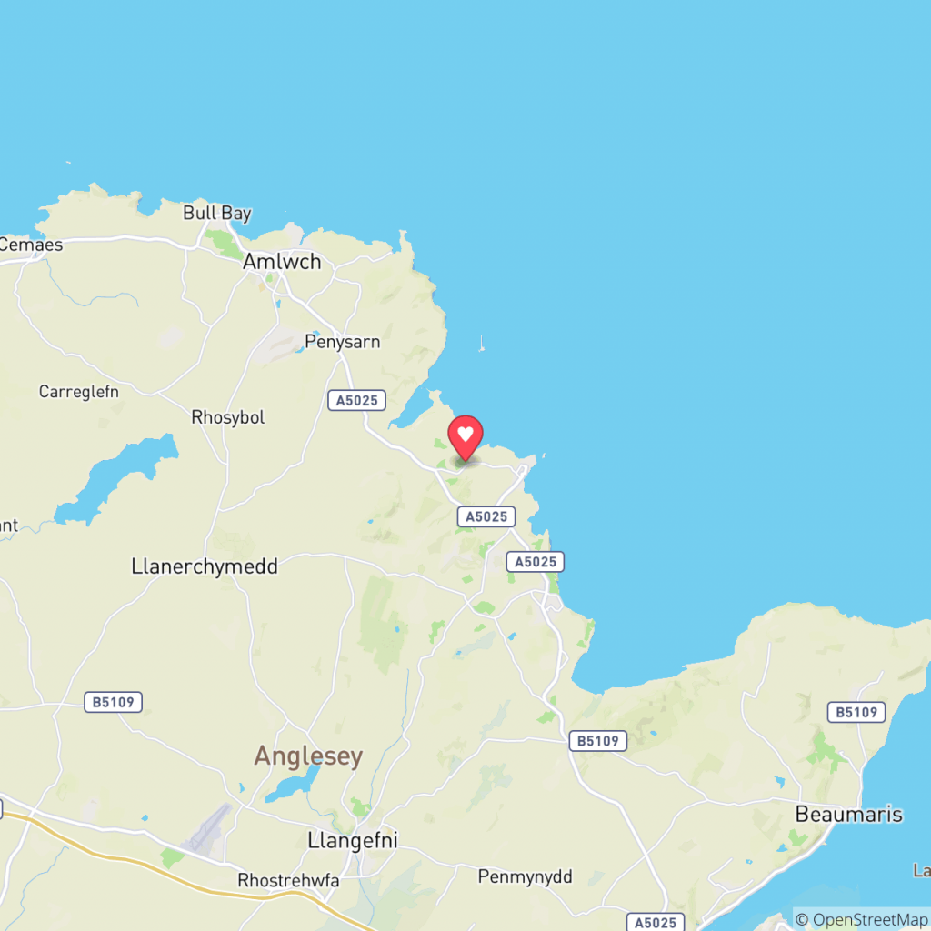 Map showing the location of Melin Rhos Caravan Park