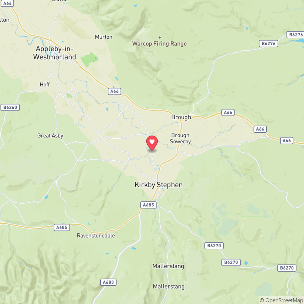 Map showing the location of Edenside Caravan Park