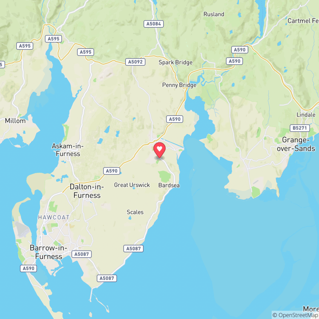 Map showing the location of Bardsea Leisure