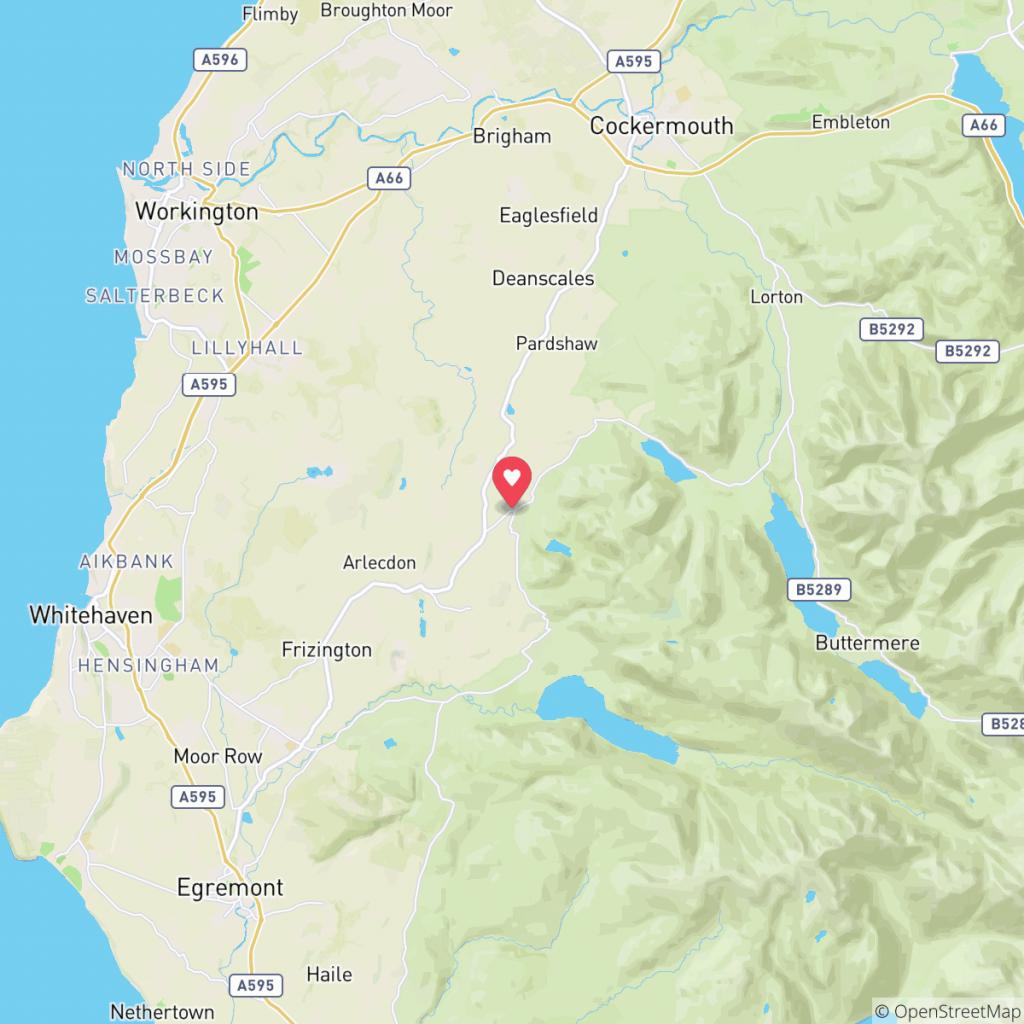 Map showing the location of Inglenook Caravan Park