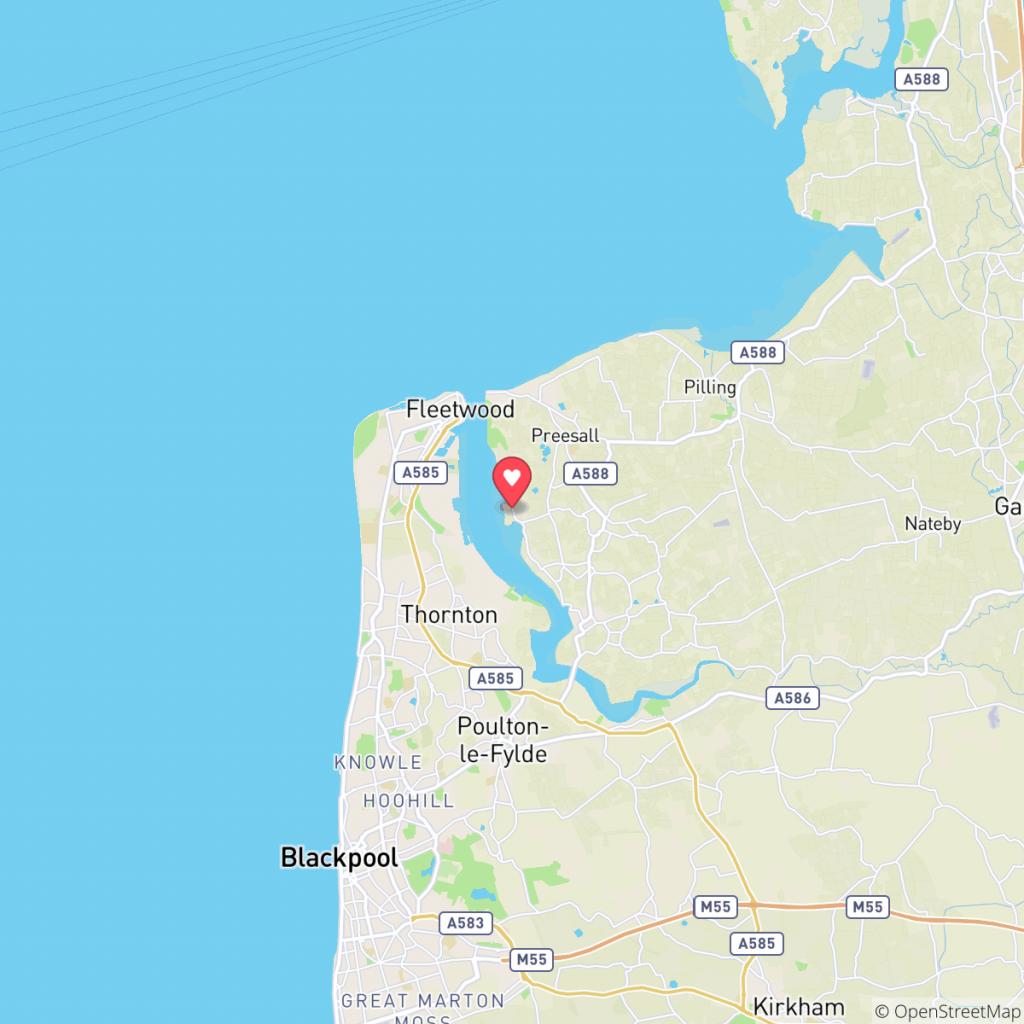 Map showing the location of Sportsmans Caravan Park