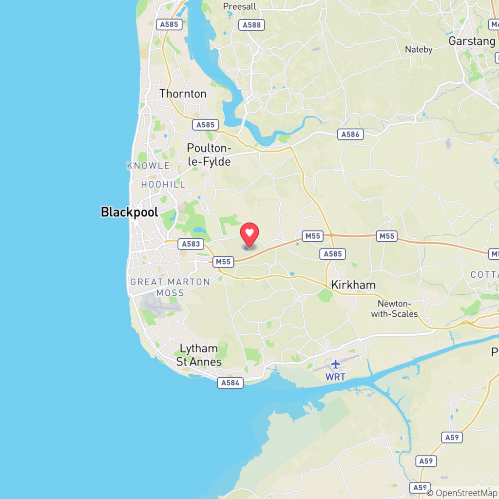 Map showing the location of Ream Hills Holiday Park