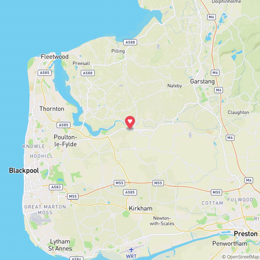 Map showing the location of Queensgate Caravan Park