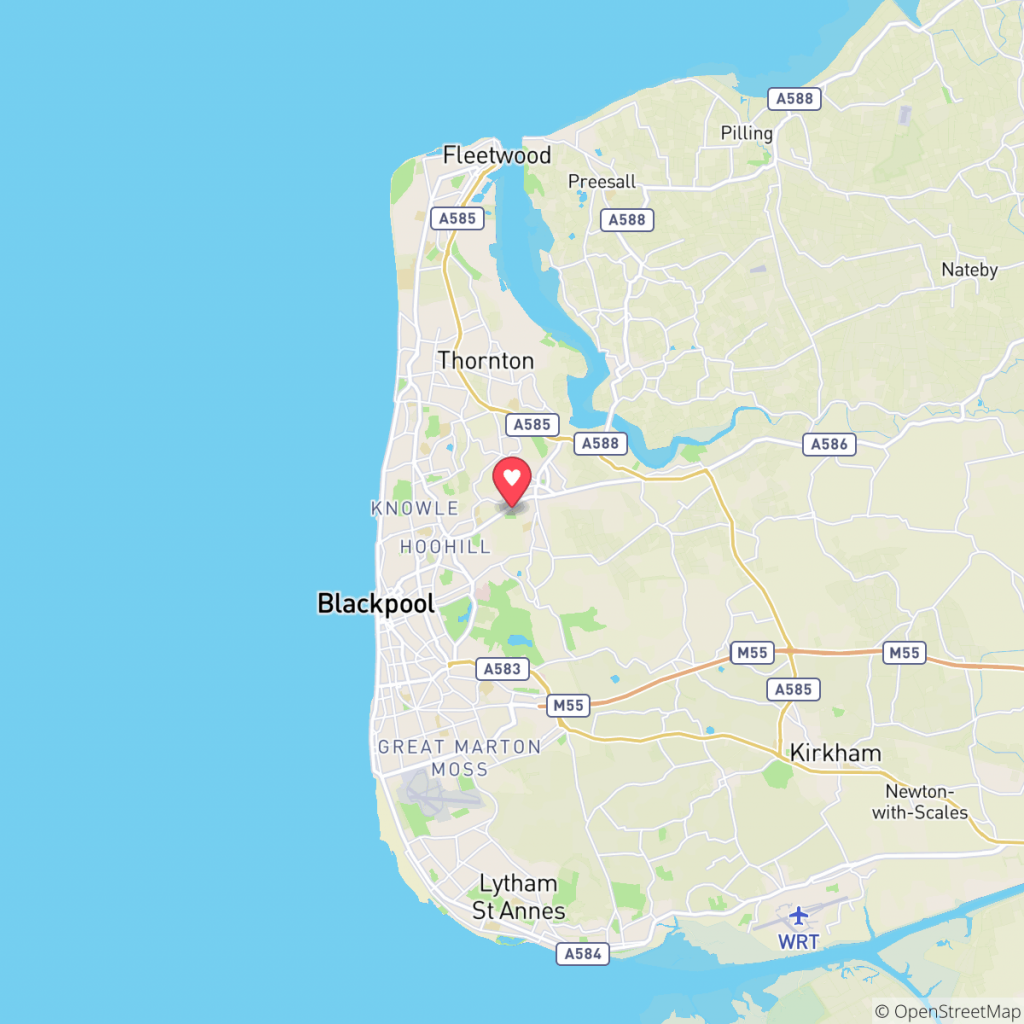 Map showing the location of Poulton Plaiz Leisure Park