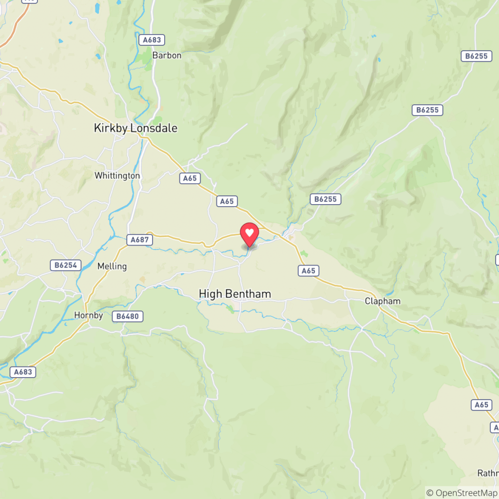 Map showing the location of Parkfoot Ingleton
