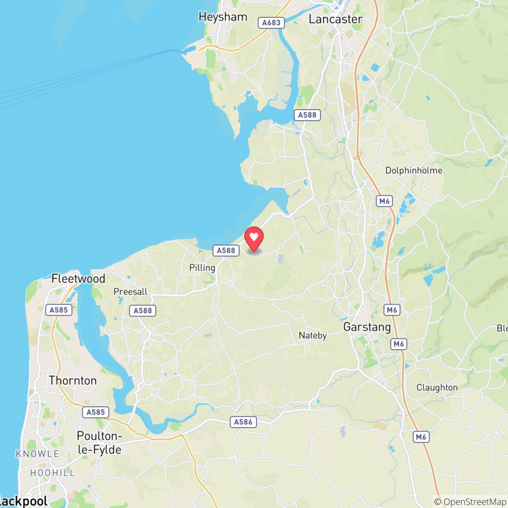 Map showing the location of Near Moss Farm Holidays