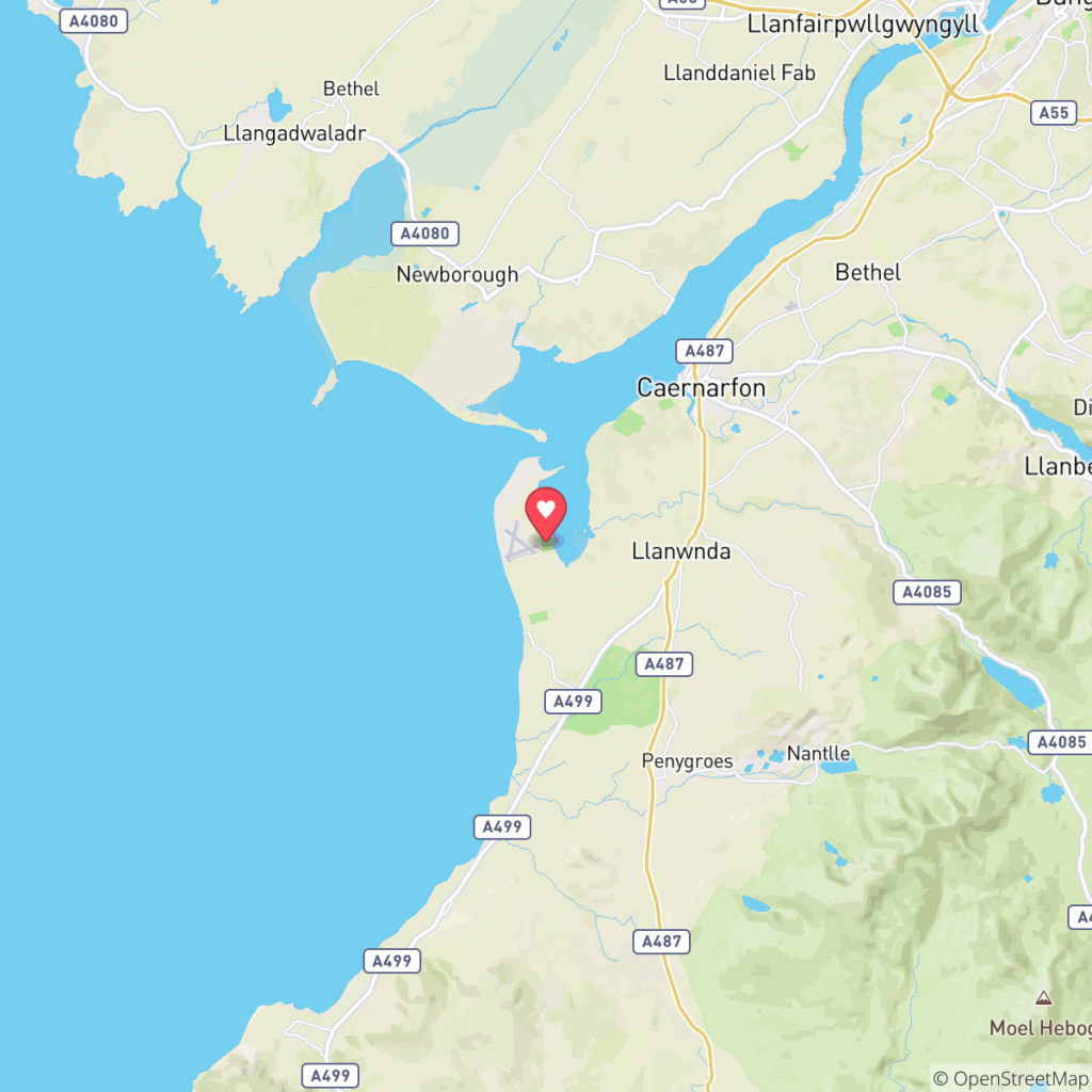 Map showing the location of Morfa Lodge