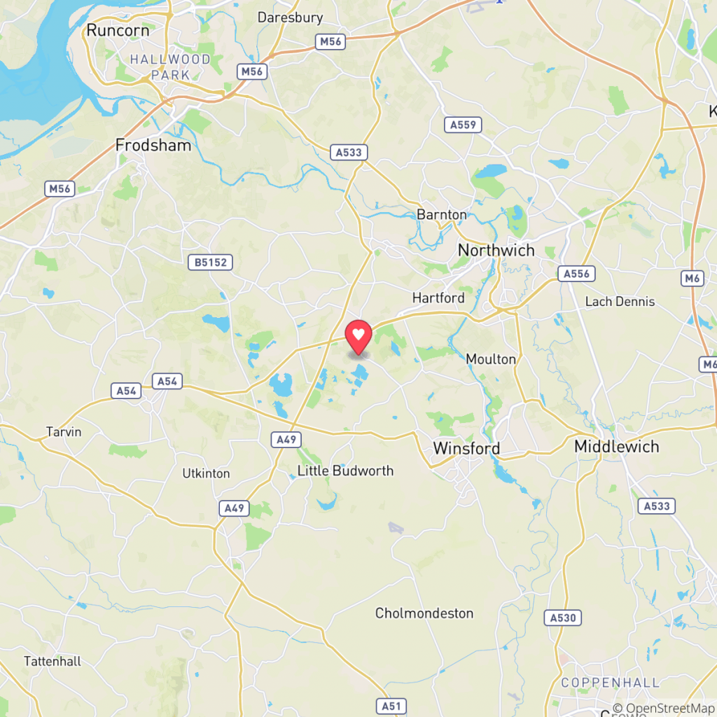 Map showing the location of Daleford Manor Caravan Park