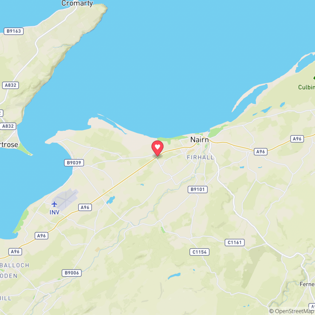Map showing the location of Nairn Camping & Caravanning Club