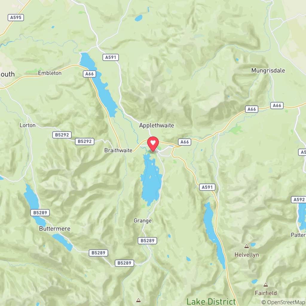 Map showing the location of Camping & Caravan Club - Derwentwater